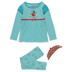 Pijama disfraz Disney con estampado de Elena de Ávalor y diadema