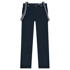 Junior - Pantalón de twill con tirantes elásticos desmontables