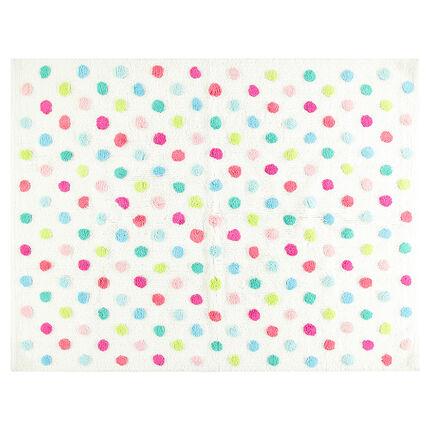 De algodón de puntos multicolores