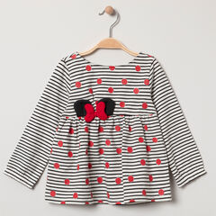 Túnica de rayas y lunares  Minnie Disney
