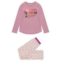 Júnior - Pijama de punto con parte superior con estampado y parte inferior con estampado all over