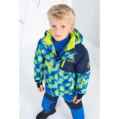 Chaqueta de esquí con bolsillos con cremallera y bandas estampadas