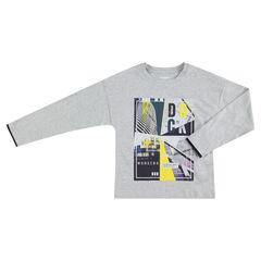 Júnior - Camiseta de manga larga de punto con estampado de colores