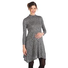 Vestido para el embarazo corte ancho de punto elástico de mezclilla