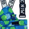 Pantalón de esquí con estampado gráfico all-over y tirantes desmontables