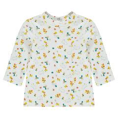 Camiseta con botones a presión y estampado all over