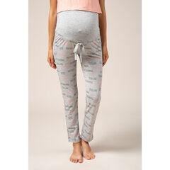 Pantalón de premamá homewear con inscripciones estampadas all over