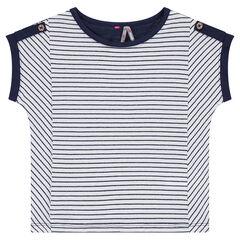 Camiseta de manga corta de punto.