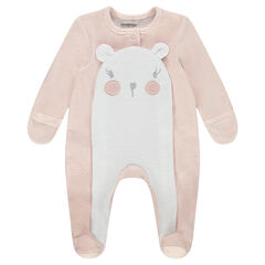 Pijama de terciopelo con animal con orejas de relieve