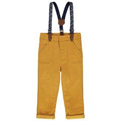 Pantalon en coton à bretelles amovibles