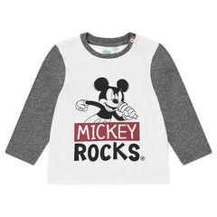 Camiseta de manga larga de punto Disney con estampado de Mickey