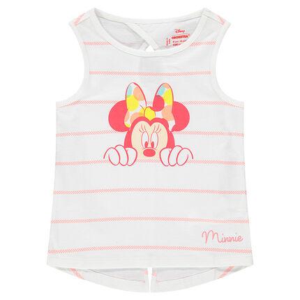 Camiseta de rayas con Minnie ©Disney  estampada
