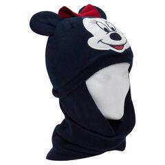 Gorro de snood de punto y micropolar Minnie con orejas de relieve