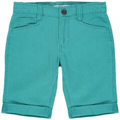 pantalon corto canale azul con bolsillos