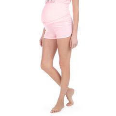 Pantalón corto homewear de punto con banda alta