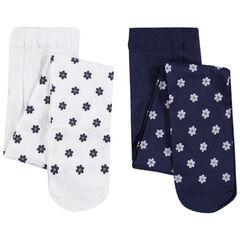 Pack de 2 medias con pequeñas flores estampadas all-over