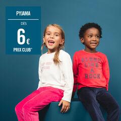 Pijama de terciopelo bicolor con mensaje estampado