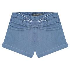 Pantalón corto de Tencel con lazo cosido