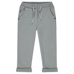 Pantalón corto de muletón slub