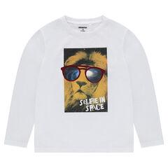 Júnior - Camiseta de punto de manga larga con dibujo de fantasía estampado