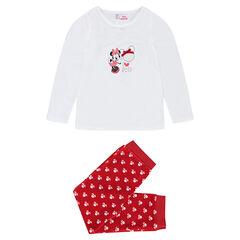 Pijama de terciopelo de Disney con corazón y Minnie estampada
