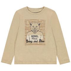 Camiseta de manga corta estampada tigre , Orchestra