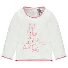 Jersey de algodón con estampado de fantasía