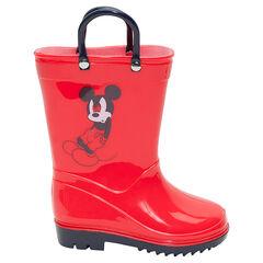 Botas de agua de goma con asas Disney Mickey