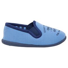 Zapatillas bajas de punto con inscripción estampada