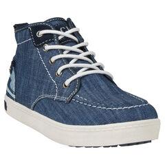Botas bajas con cordones de jean con cremallera