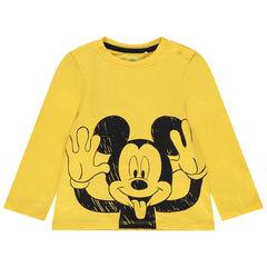 Camiseta de manga larga de algodón ecológico con estampado de Mickey Disney