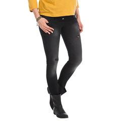 Jeans para el embarazo banda ancha efecto usado en la parte superior