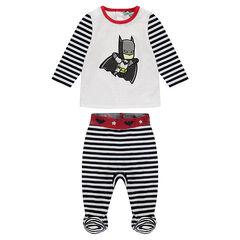 Pijama de terciopelo con rayas y estampado ©Warner Batman