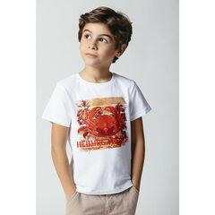 Camiseta manga corta algodón orgánico estampado fantasía , Orchestra