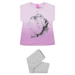 Pijama corto de punto con estampado Disney Bella