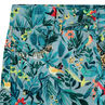 Pantalón corto con estampado tropical all over