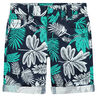 Bermudas de algodón con estampado vegetal all-over
