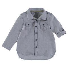 Camisa de manga larga con micro estampado all over