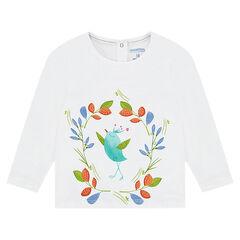 Camiseta de punto de manga larga con estampado de colores