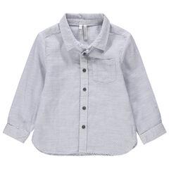Camisa de manga larga de punto de fantasía
