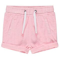 Pantalón corto de toalla con bolsillos