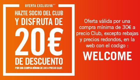 Oferta Club con el codigo welcome