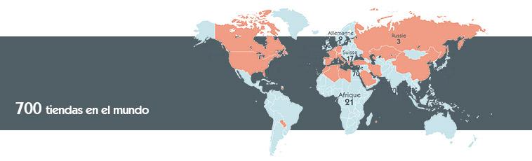 Mapa de las tiendas Orchestra en el mundo