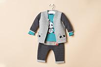 Panda blue 1-12 meses